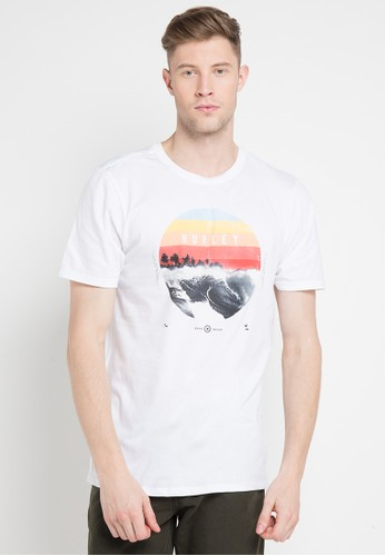 hurley white and multi Dusk T-Shirt A1B91AAFF465B3GS_1