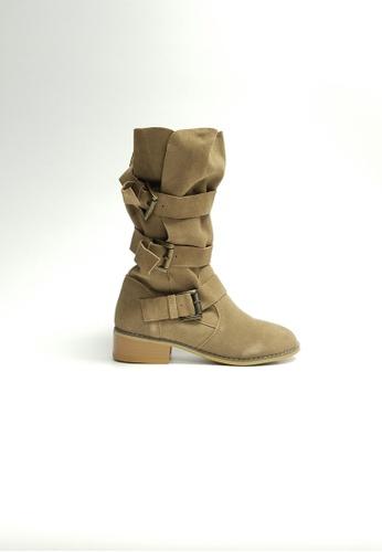 Lara beige Women Leather Boots B7591SHD7E200BGS_1