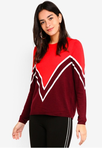 ONLY red Holli Pullover Knit ECD99AA8F8DD83GS_1