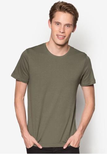 Burton Menswear London 綠色 羅紋領基本款TEE BU964AA25YMKMY_1