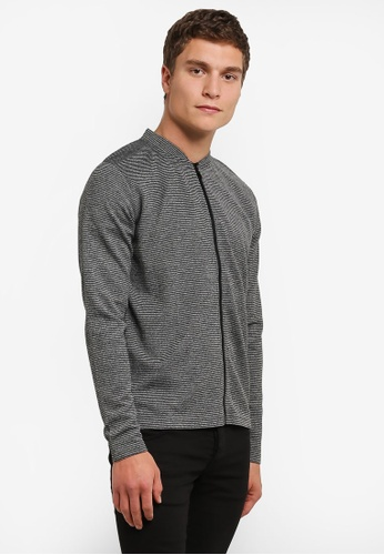 Indicode Jeans grey Yahir Light Knit Zipped Sweater IN815AA0RHRDMY_1