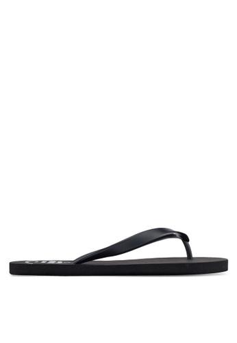 JAXON black Casual Flip Flops 8DDCESHE29E84BGS_1