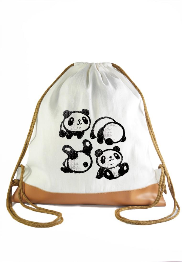 Drawstring Bag Sketch Pandas