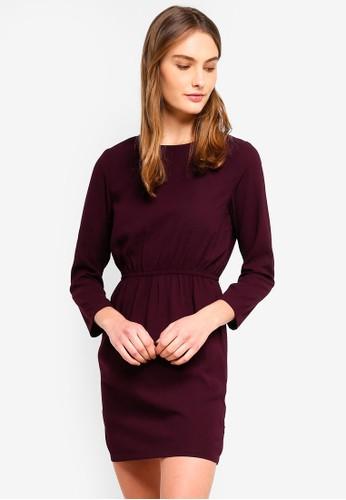 ZALORA BASICS purple Basic Open Back Mini Dress 29E8DAA82058B4GS_1