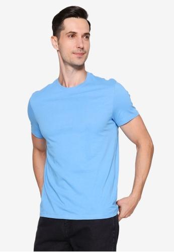 OVS blue V-Neck T-Shirt B97FCAA366FD36GS_1