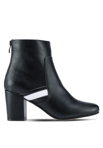 ZALORA black Ankle Boots With Trim 7F650SH7579A2EGS_1