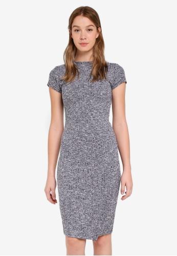 Cotton On navy Anthea Short Sleeve Midi Dress EC04FAA3A5BF7AGS_1