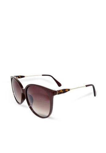 ASLLY brown Travel in Kenya│Cat-Eye brown Sunglasses 32D92GL7ABA71AGS_1