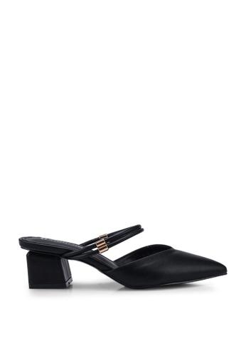 Kimmijim 黑色 Keisha Pointed Toe Block Heels 343FCSH896818CGS_1