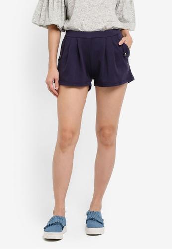UniqTee navy Flare Shorts UN097AA0SHD6MY_1