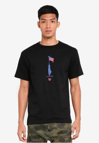 OBEY 黑色 短袖印花T恤 8E738AADBDB938GS_1