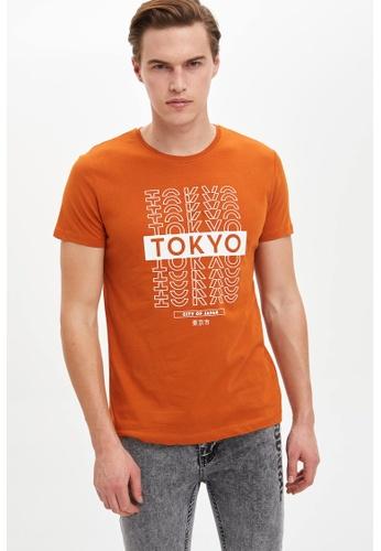 DeFacto brown Man T-Shirt 5E453AA300E025GS_1