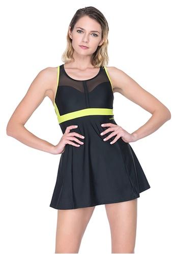 Sunseeker black Sports One-piece Swimdress 1B25CUS12CEBFBGS_1