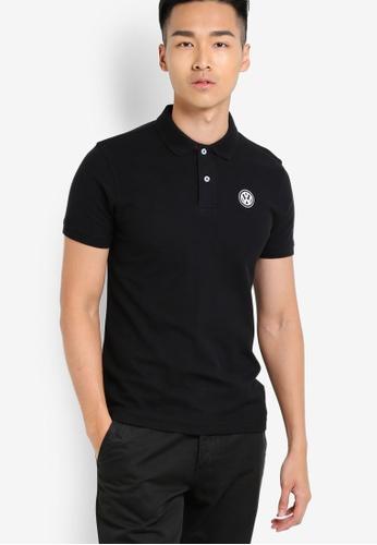 Volkswagen black Basic Polo Shirt VO089AA16JLRMY_1