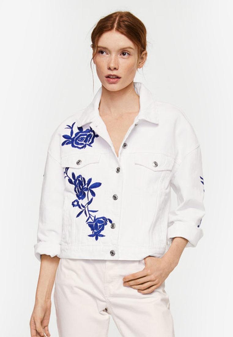 Embroidered Denim Mango White Mango White Denim Mango Embroidered Embroidered Denim Jacket Jacket Jacket z4wW1TqW
