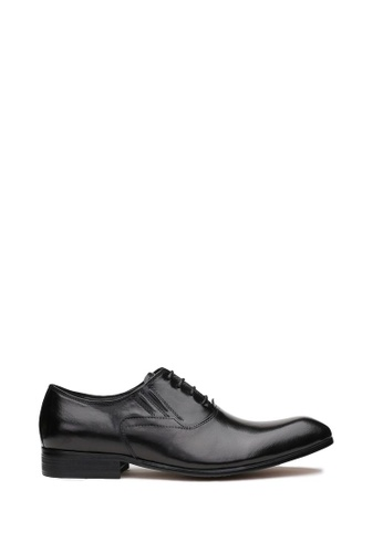 Kings Collection black Bruckner Leather Shoes 78ACBSH45E18AFGS_1