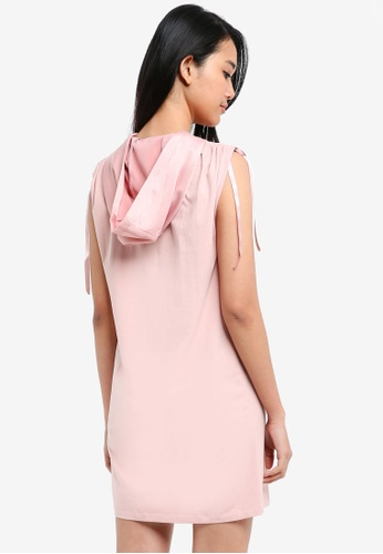 Something Borrowed pink Hooded Tank Dress with Drawstring 0AF26AA662FAA0GS_1