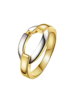 Gabrielle Dual-Tone 18K Gold Plated Ring Size 7