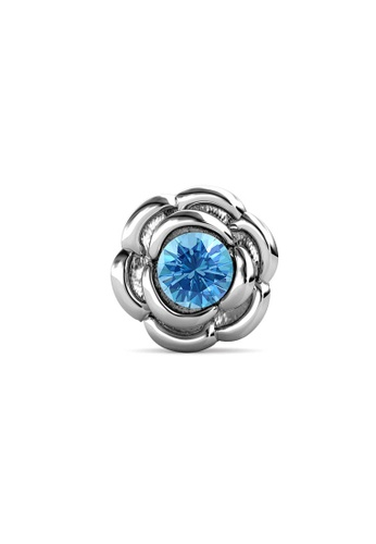 Her Jewellery silver Petunia Brooch (March, White Gold) - Made with Premium grade crystals from Austria 5A8ADAC0BD5477GS_1