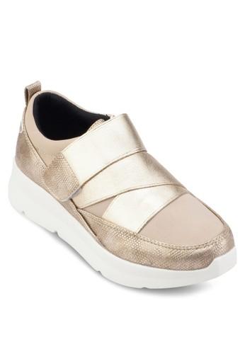 彈性金屬esprit專櫃帶厚底運動鞋, 女鞋, 鞋