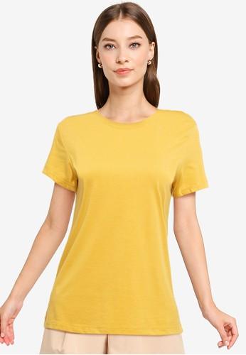 Tolliver orange Round Neck Basic Short Sleeve Tee 22FE8AADCE4A06GS_1