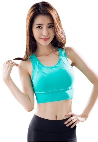 YG Fitness green Sexy Quick-Drying Running Fitness Yoga Bra E9765USF57E3AFGS_1