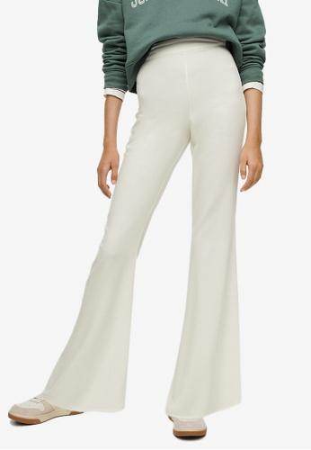 MANGO KIDS beige Teens Flared Suit Trousers 533DFKAD15986DGS_1