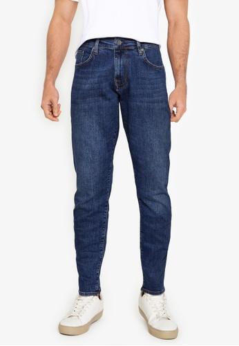 Ben Sherman blue Straight Stonewash Jeans 4542EAAD16D62DGS_1