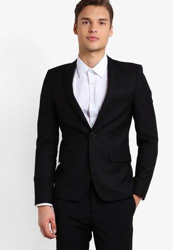 Burton Menswear London black Skinny Black Essential Jacket BU964AA53HIKMY_1