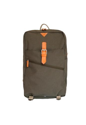 Samuel Ashley green Samuel Ashley Kansas Nylon Backpack - Army 2A4F5AC7339DFFGS_1