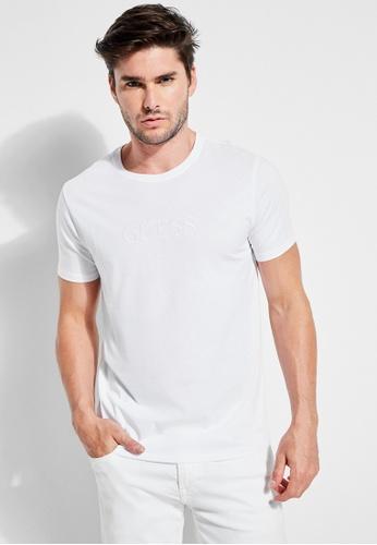 Guess 白色 Guess 純色刺繡Logo T恤 90F7CAA6DD3786GS_1