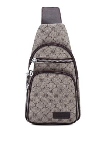 Playboy brown Playboy Chest Bag 918BAAC2A28FC3GS_1