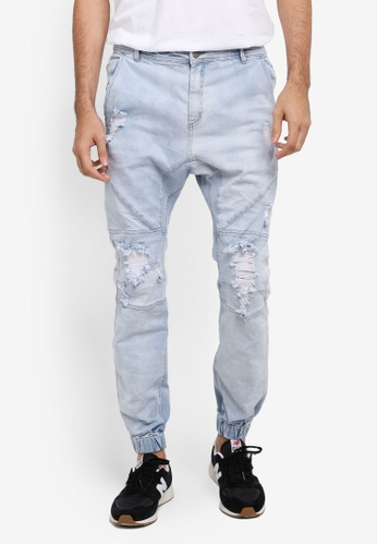 Cotton On blue Slim Denim Joggers CO372AA0SS9PMY_1