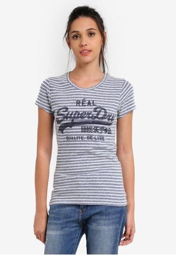 8eb3b50b08 Buy Superdry Vintage Logo Stripe Entry Tee Online on ZALORA Singapore