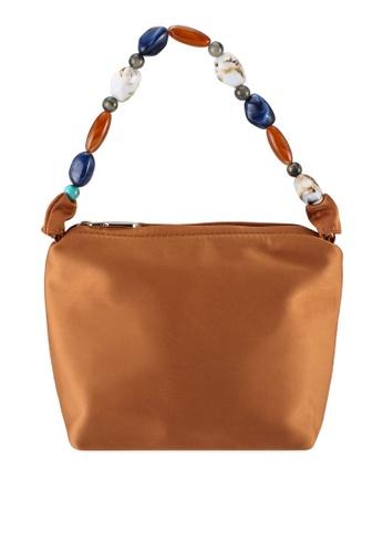 Milliot & Co. 褐色 Ella Top Handles Bag 8079BACED2DA7FGS_1