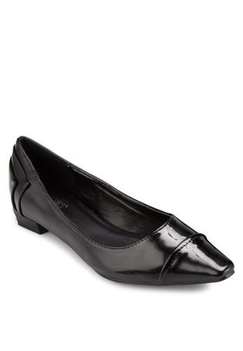 漆皮低跟方esprit香港分店地址頭平底鞋, 女鞋, 鞋