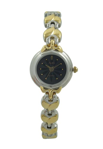 Alba gold and silver ALBA Jam Tangan Wanita - Silver Gold Black - Stainless Steel - ATQ12J AL383AC0UE07ID_1