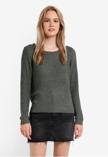 ONLY green ONLY ONE Geena Long Sleeve Knit Pullover ON573AA66ZJDMY_1