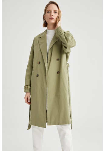 DeFacto green Woman Outer Wear Trenchcoat 04DCFAA63E4838GS_1
