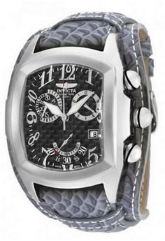Lupah Men 46.5mm Case Charcoal Leather Strap Dial Quartz Watch 90263