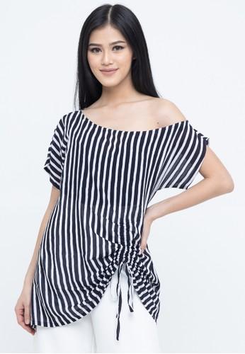 SAVI Batik black and white Batik Stripes Top 67A7FAAB134525GS_1