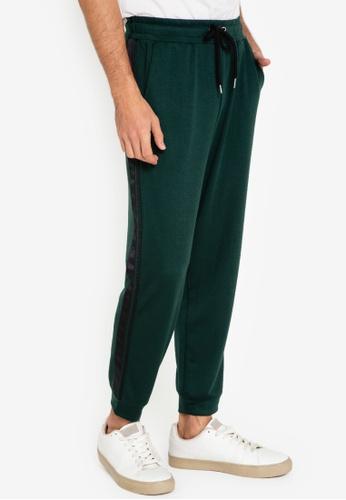 ZALORA BASICS green Trim Detail Jogger Pants C6282AA96E356DGS_1
