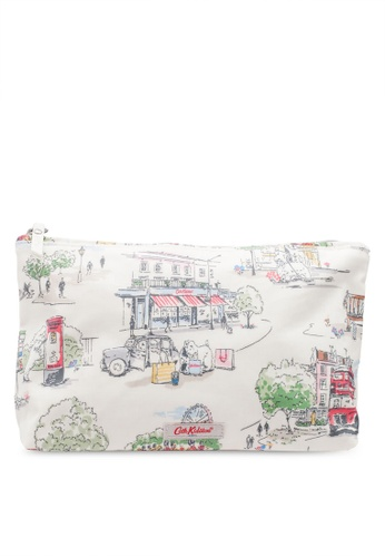 Cath Kidston white Billie Goes to Town Matt Zip Cosmetic Bag 83C1DACE263AF9GS_1