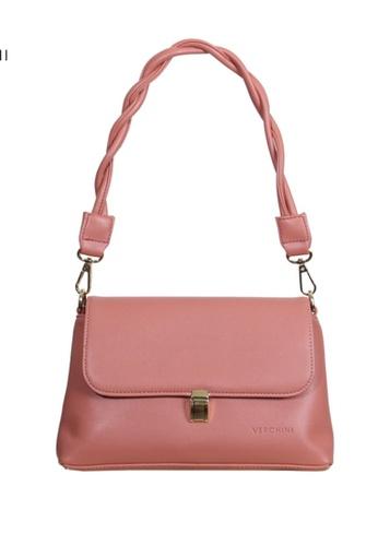 Verchini pink Verchini Twist Top Handle Bag 5C41AAC44D3365GS_1