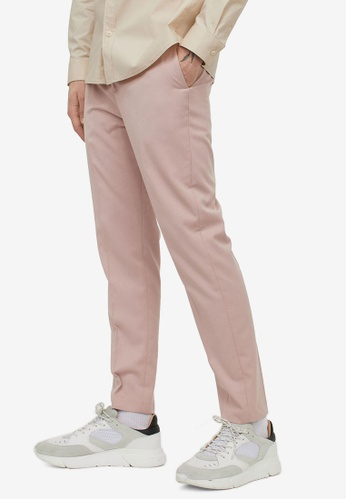 H&M pink Slim Fit Cigarette Trousers 3C3CBAA6E0EE75GS_1