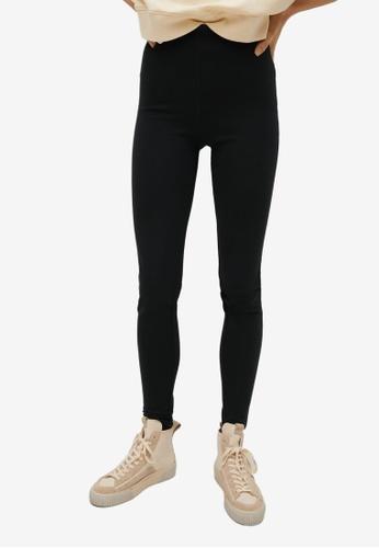 Mango black Zipper Leggings 497B5AA2E80026GS_1