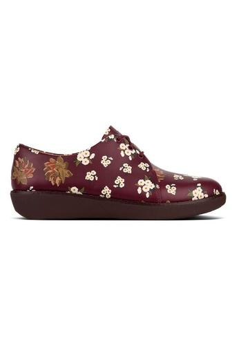 FitFlop purple Fitflop Derby Dark Floral (Berry Mix) B3B62SHFC1E57CGS_1