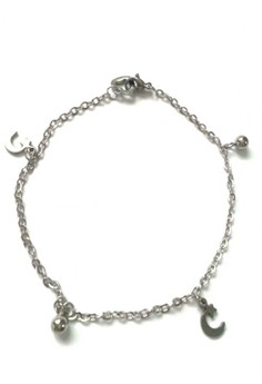 Stainless Moon Crescent Charms Anklets