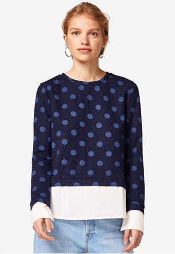 ESPRIT navy Long Sleeve Sweatshirt 4FB86AA1EE20F2GS_1