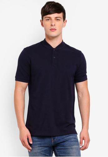 Calvin Klein 海軍藍色 Baseball Collar Polo Shirts - Calvin Klein Jeans 44F12AAA67A16CGS_1